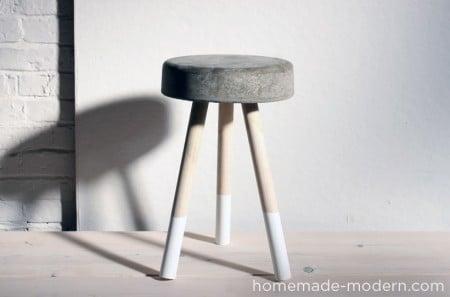 $5 concrete bucket stool, Homemade Modern
