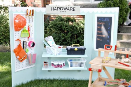 8-23, make believe station for kids, Rambling Renovators