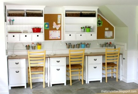 8-30 diy wall hutch study desk, That's My Letter