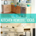 Cut Costs By Remodeling Some Or All Of Your Kitchen By Yourself. We Are Sharing 15 Of The Best DIY Kitchen Remodel Ideas Featured On Remodelaholic.com