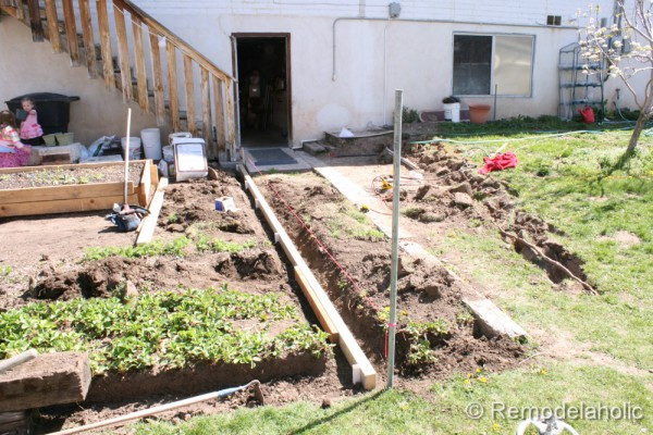 DIY concrete patio