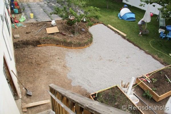 Remodelaholic | DIY Concrete Patio: Part One