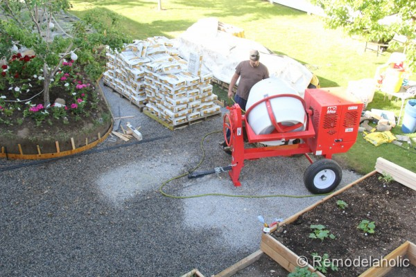 DIY concrete patio part two-1-2