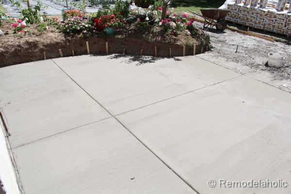 DIY concrete patio part two-13-2
