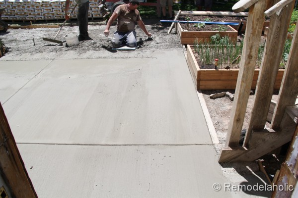 DIY Concrete Patio Part Two 14 2 ...