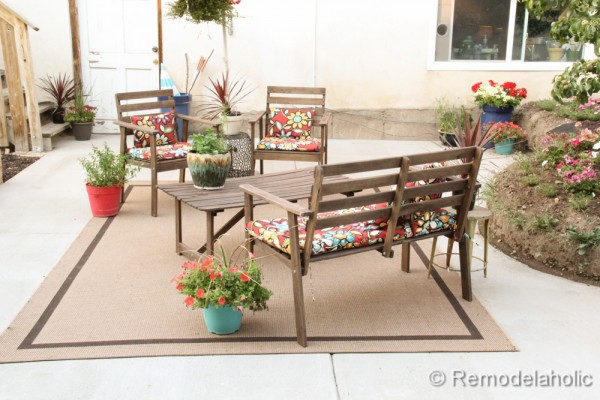 Great DIY concrete patio part two