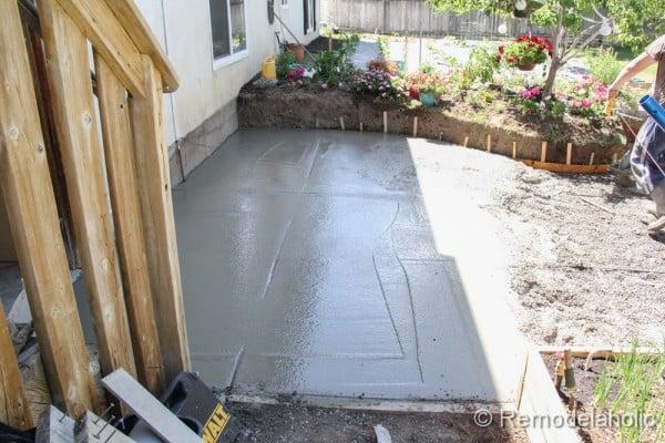 Unique DIY concrete patio part two
