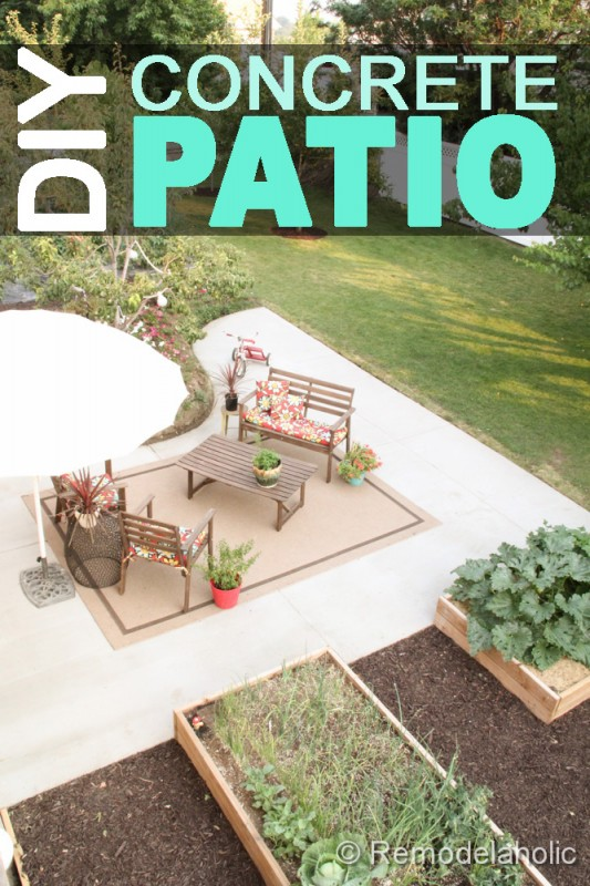 Lovely DIY Concrete Patio   How To Do A Concrete Patio   Home Design Ideas  And