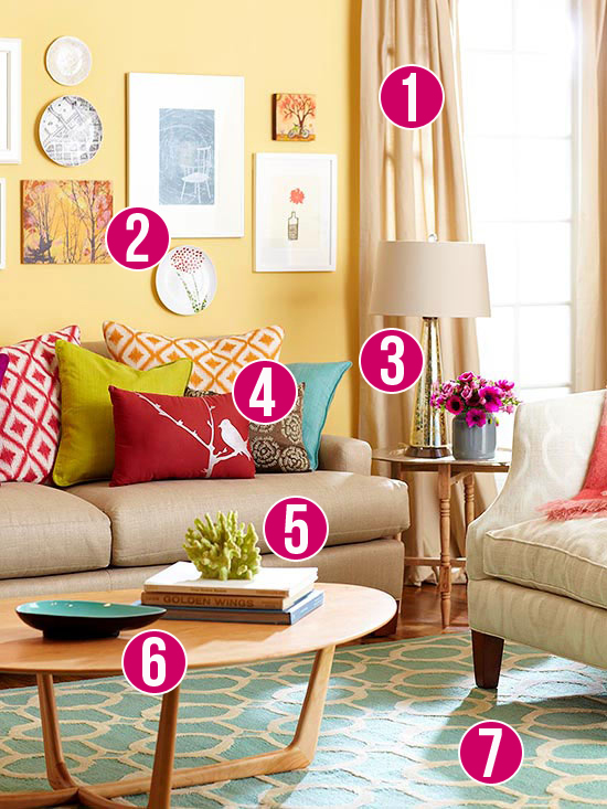 Get This Look: Color Me Casual Living Room