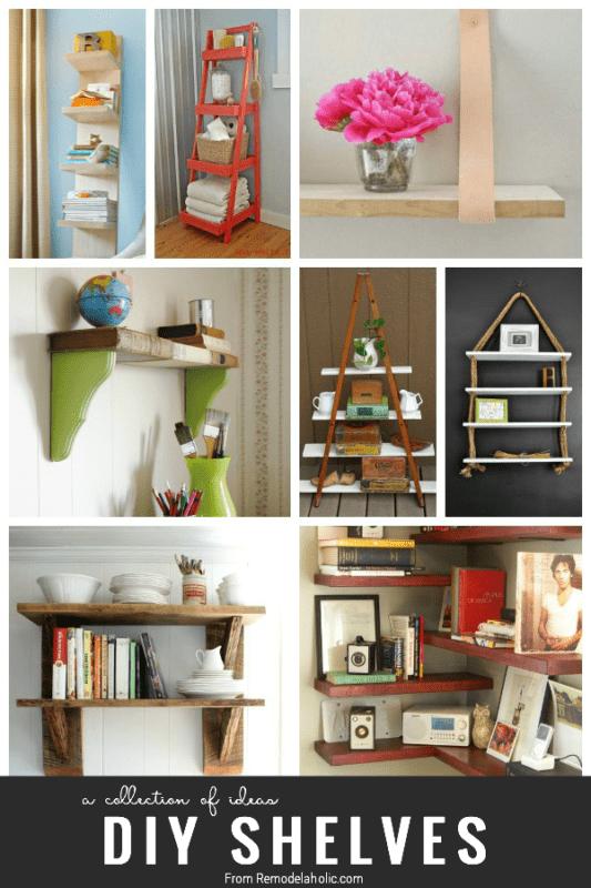 diy shelving ideas from Remodelaholic.com #diy #shelves #organize #storage #buildit