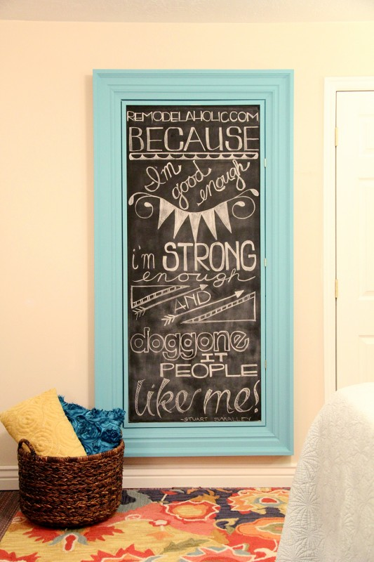 Remodelaholic Build A Large Wall Frame For A Chalkboard