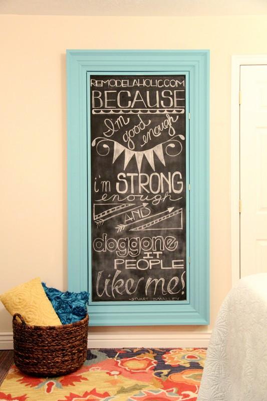 Master Bedroom Chalkboard frame 036