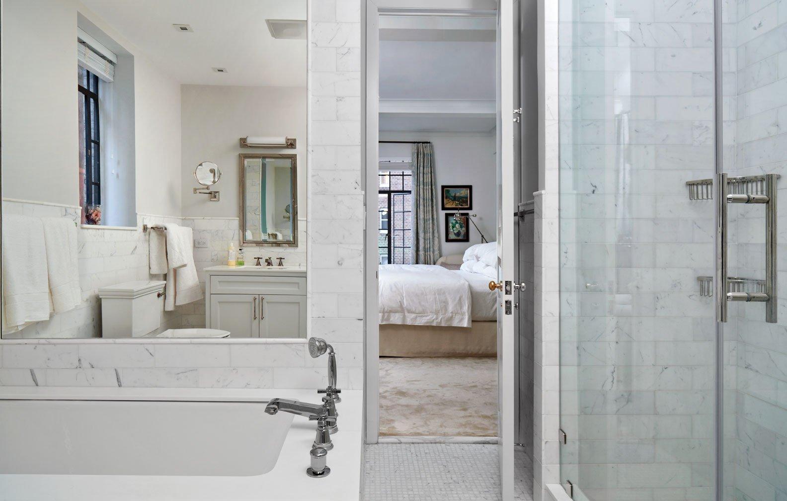 Good Bath Art Deco Apartment in the El Dorado NYC Design by Design Development NYC