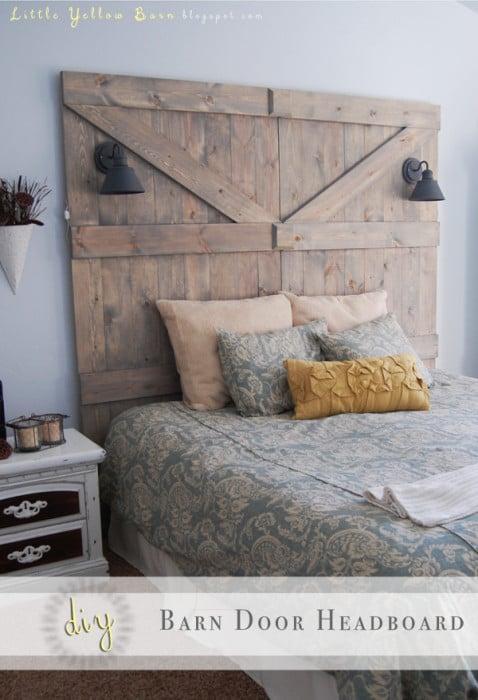 barn door headboard, DIY Adventures