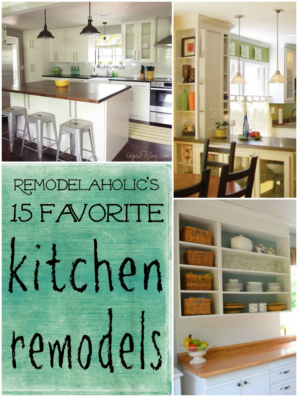 Favorite kitchen remodel ideas remodelaholic for Remodeling your kitchen ideas