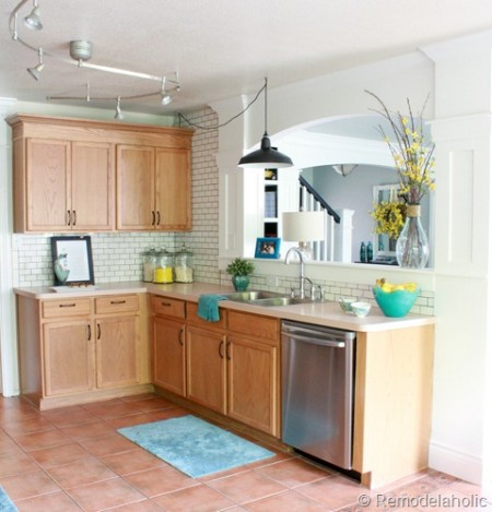 best kitchen remodel ideas -- Remodelaholic park house kitchen, update without painting cabinets