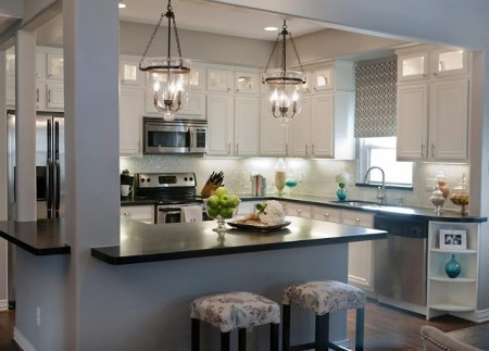 best kitchen remodel ideas -- complete kitchen transformation with white cabinets, A Well Dressed Home on Remodelaholic