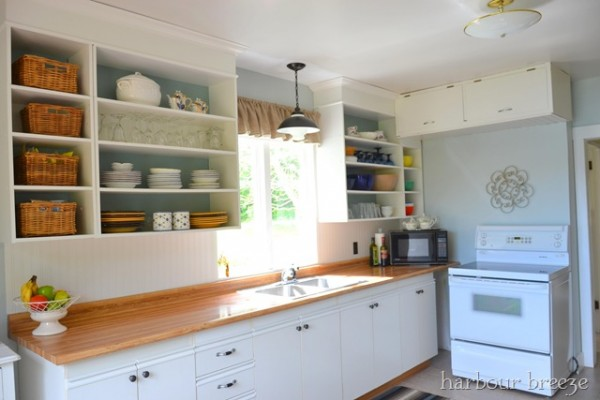 Remodel Ideas Kitchen Update On A 100 Budget With Open Cabinets