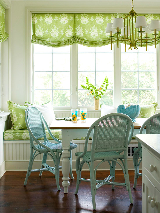 breakfast nook with banquette bench, Better Homes and Gardens