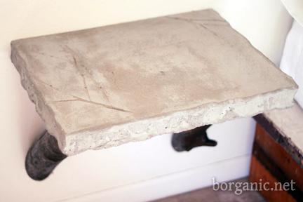 build a concrete side table, borganic