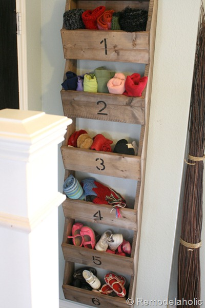 building plans for rustic wall storage bins, Remodelaholic