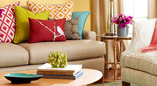 color me casual living room feature tips