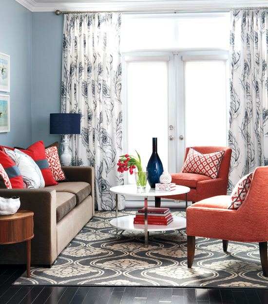 Colorful Living Room Style: Get This Look: Color Me Casual Living Room
