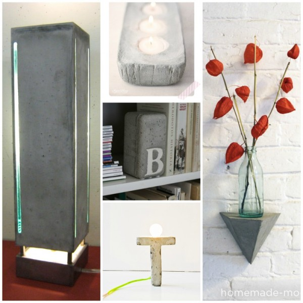 concrete craft project ideas from Remodelaholic