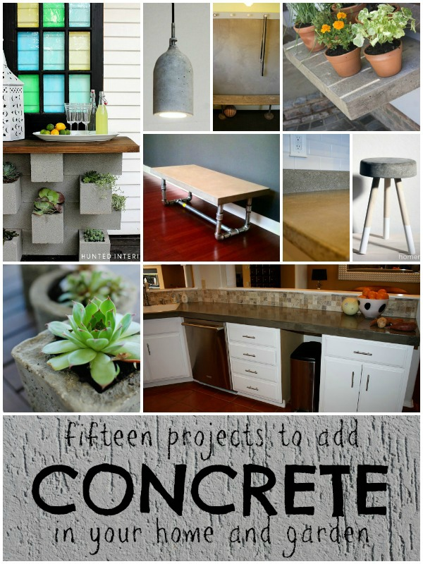 15 creative ideas to use concrete in your home or garden remodelaholiccom - Concrete Home Ideas