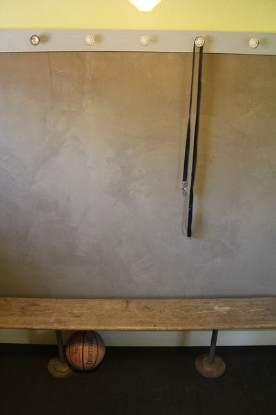 concrete accent wall, Kara Paslay Designs