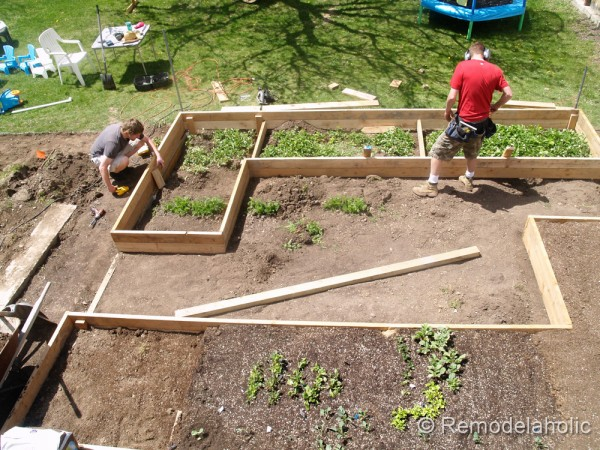 Remodelaholic | Custom Raised Garden Boxes