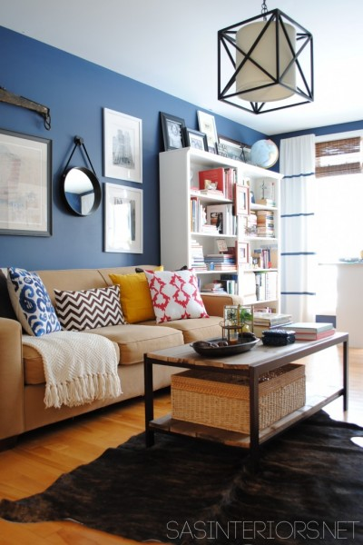 cute colorful casual living room, SAS Interiors