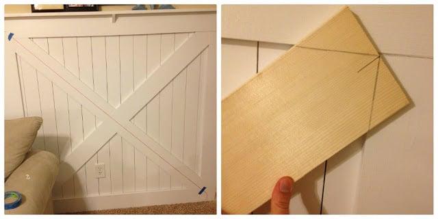DIY Barn Door Wainscoting Tutorial