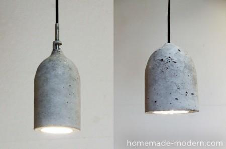 diy concrete pendant light, Homemade Modern