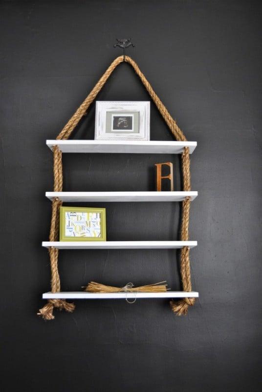 diy rope shelves, ReCreate Home
