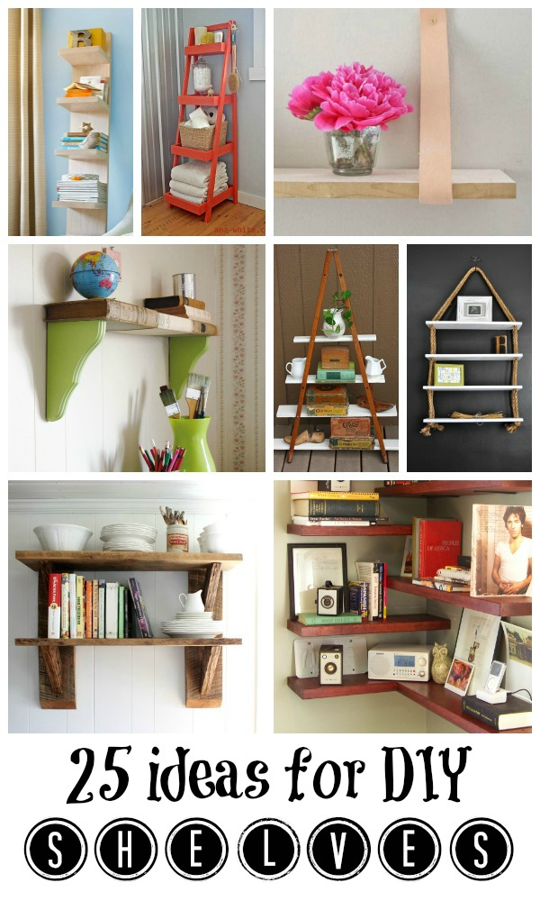 diy shelving ideas from Remodelaholic.com #diy #shelves #organize #storage #buildit