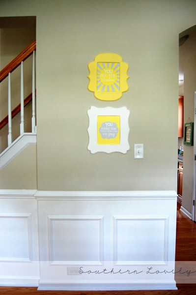 diy wainscoting, Southern Lovely on Remodelaholic