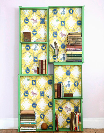 dresser drawers to bookshelf, Country Living