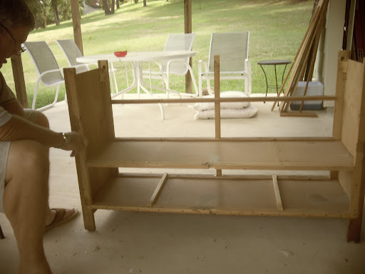 dresser structure of the mudroom bench