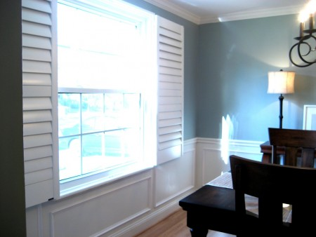 faux wainscoting for wood panels, Involving Color on Remodelaholic