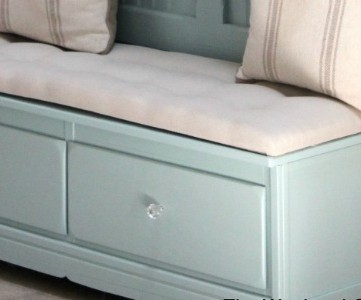 Mudroom Bench from an Old Dresser