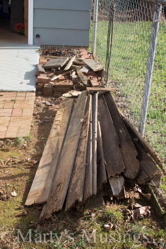 fence posts to wood kitchen backsplash