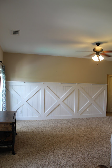 wainscoting quarter round with Barn Door Wainscoting Wall Treatment on Install Board Batten Wainscoting White Painted Square Rectangle Pattern also Barn Door Wainscoting Wall Treatment together with Decorative Moulding 101 as well 574349758702526892 moreover Wainscoting Tips From A Pro.
