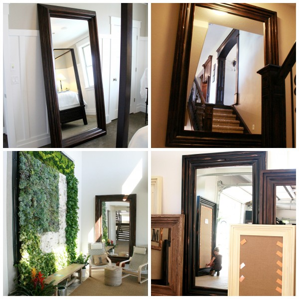 Remodelaholic build a large wall frame for a chalkboard for Affordable large mirrors