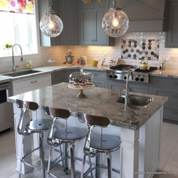 Grey And White Kitchen Cabinetry And Design Ideas, UVPH 2016 Home 02 Arive Homes 81, Photo by Remodelaholic