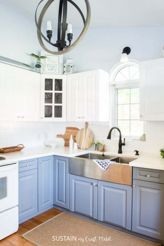 Grey And White Kitchen Remodel, Coastal Cottage Style, Sustain My Craft Habit