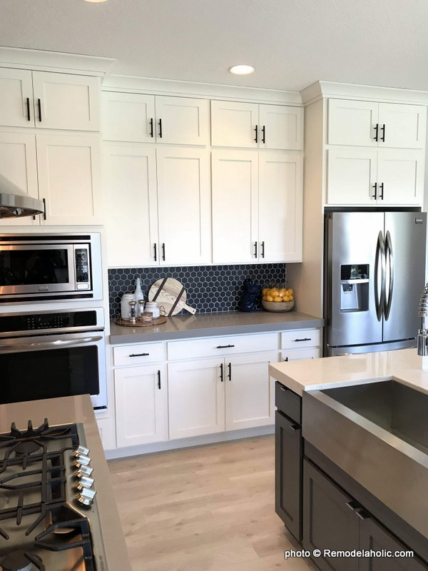 Remodelaholic Grey And White Kitchen Cabinet Ideas