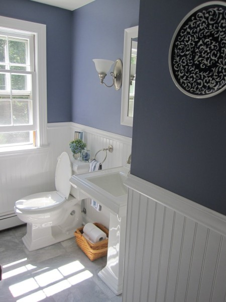 half bath remodel with beadboard wainscoting simple beautiful home on remodelaholic - Bathroom Designs Using Beadboard
