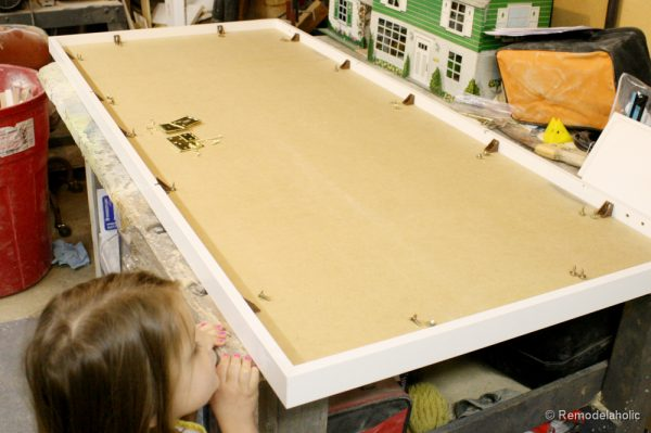 how to build a large chunky frame for a chalkboard-37