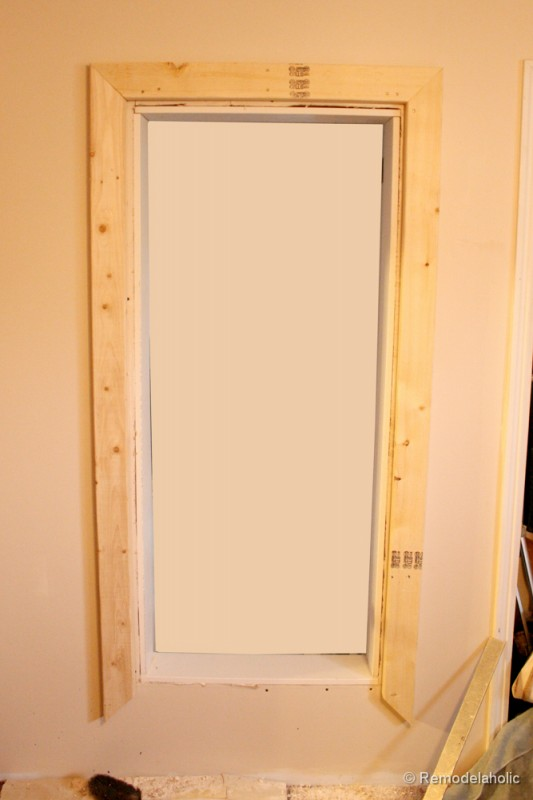 how to build a large chunky frame for a chalkboard-6 (5)